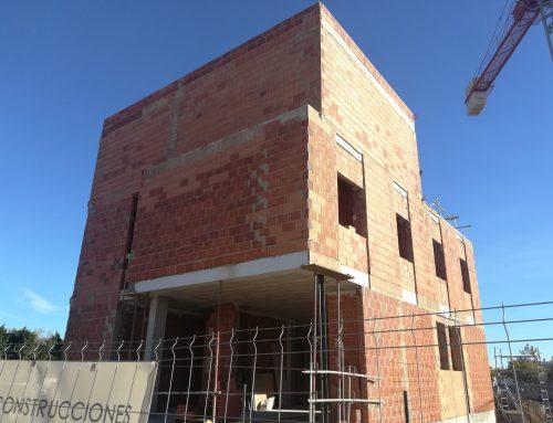 Estructura y cerramiento de termoarcilla PAU Lledo Castellón