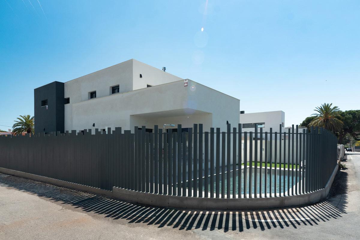 Finalización casa prefabricada de hormigón Castellón - sala