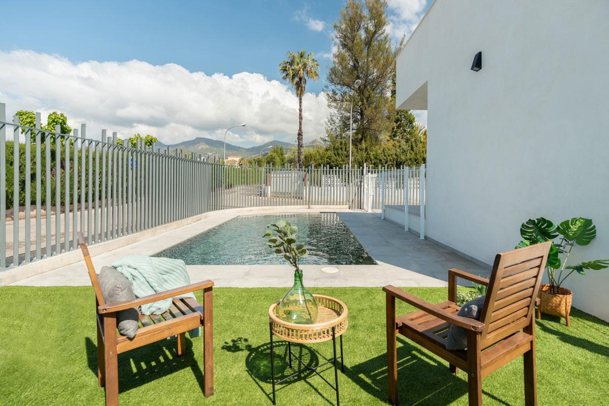 Finalización casa prefabricada de hormigón Castellón - piscina